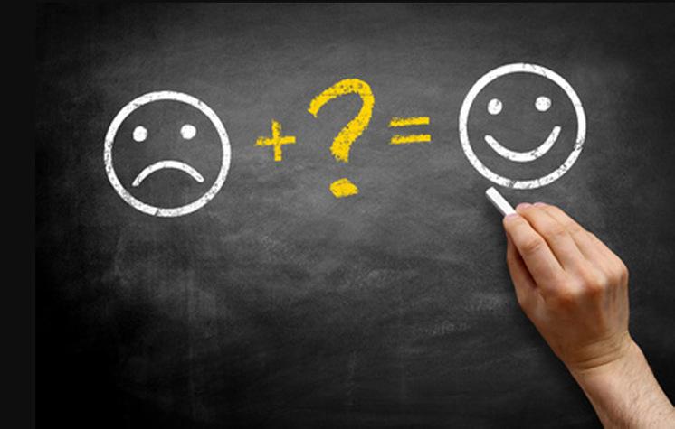 Glücklich zu sein ist nicht unbedingt von deinen Umständen abhängig.