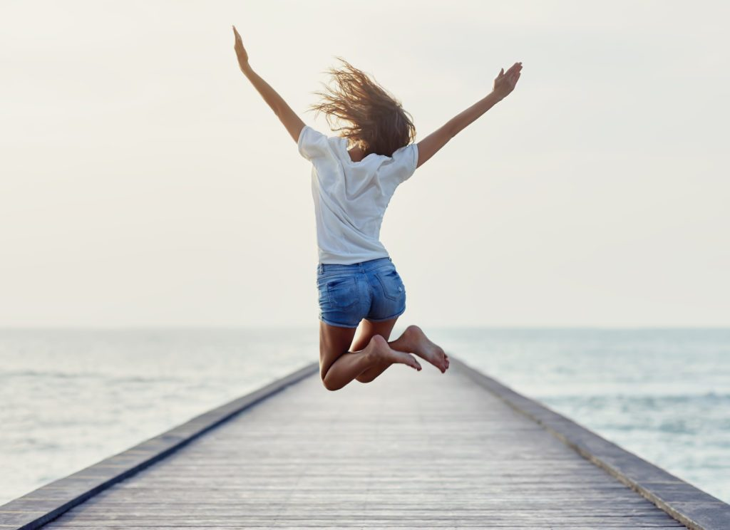 Im Leben glücklich sein